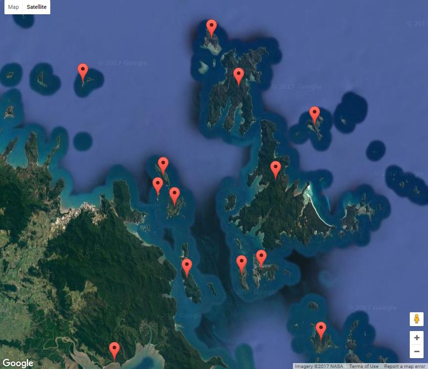 Whitsundays - Interactive map