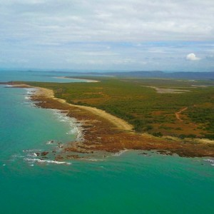 cape-palmerston-beach-camp aerial