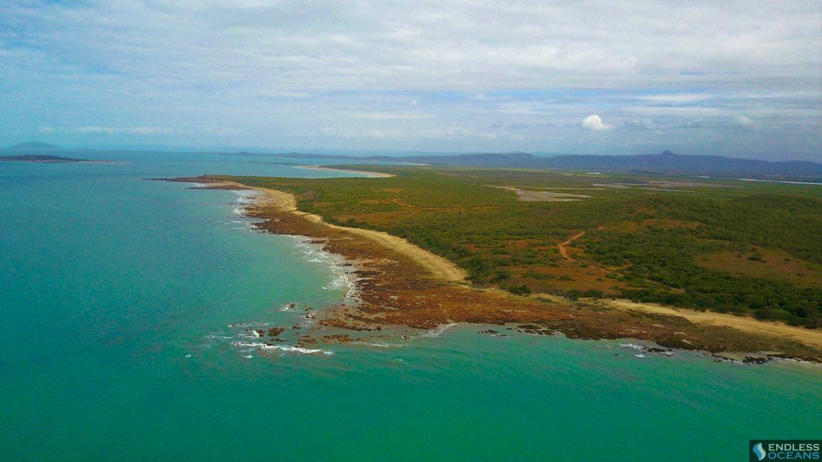 cape-palmerston-beach-camp aerial