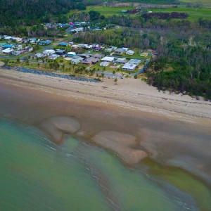 Conway beach - Queensland - aerial view