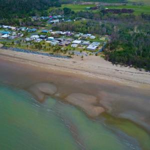 Conway beach - Queensland - aerial view